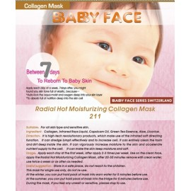 BABY FACE Radial Hot Moisturizing Collagen Mask 熱能抗敏感排毒補濕面膜