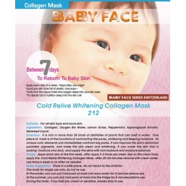 BABY FACE Cold Relive Whitening Collagen Mask 冰涼活泉水收毛孔美白補濕面膜