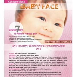 BABY FACE Anti-oxidant Whitening Strawberry Mask 士多啤梨活氧美白面膜